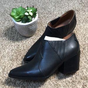 Aldo Black Leather Ankle Booties
